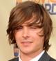 Hairstyle [2358] - Zac Efron, medium hair straight
