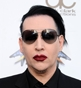 Hairstyle [9065] - Marilyn Manson, medium hair straight