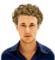 Hairstyle [3816] - man hairstyle, medium hair curly