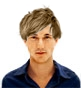 Hairstyle [6505] - man hairstyle, medium hair straight