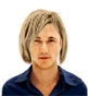 Hairstyle [2155] - man hairstyle, medium hair straight