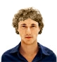 Hairstyle [890] - man hairstyle, medium hair curly