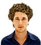Hairstyle [3325] - man hairstyle, medium hair curly