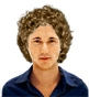 Hairstyle [1448] - man hairstyle, medium hair curly
