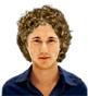 Hairstyle [1448] - man hairstyle, medium hair curly