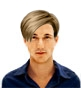 Hairstyle [6183] - man hairstyle, medium hair straight