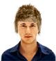 Hairstyle [1595] - man hairstyle, medium hair straight