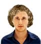 Hairstyle [1658] - man hairstyle, medium hair curly