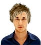 Hairstyle [1659] - man hairstyle, short hair straight