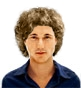 Hairstyle [1137] - man hairstyle, medium hair curly