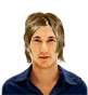 Hairstyle [887] - man hairstyle, medium hair straight